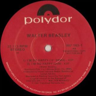 """Walter Beasley - I'm So Happy (12"""", Promo)"""