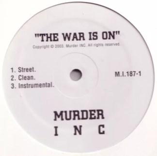 "Murder INC* - The War Is On / Guess Who Shot Ya'? (12"")"