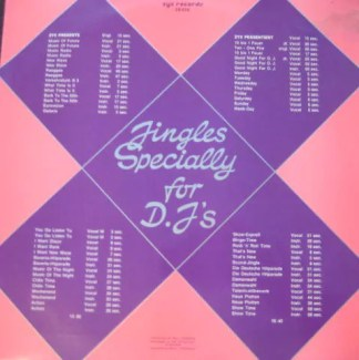 Various - Jingles Specially For D.J's (LP)