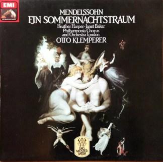 Mendelssohn* - Philharmonia Chorus And Orchestra London* - Otto Klemperer - Ein Sommernachtstraum (LP, Album)