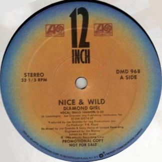 """Nice & Wild - Diamond Girl (12"""", Single, Promo)"""