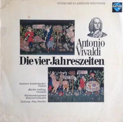 Vivaldi* / Susanne Lautenbacher - Martin Galling - Württembergisches Kammerorchester, Jörg Faerber - Die Vier Jahreszeiten - Violinkonzerte Op. 8 Nr. 1-4 (LP)