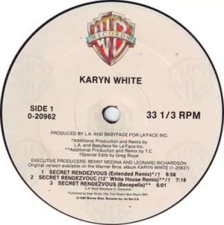 "Karyn White - Secret Rendezvous (12"", Maxi)"