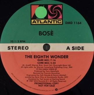 "Bosè* - The Eighth Wonder (12"", Single, Promo)"