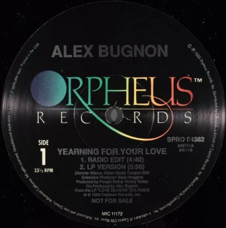"""Alex Bugnon - Yearning For Your Love (12"""", Promo)"""