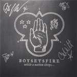 Signierte Boysetsfire Vinyl von Uncle M