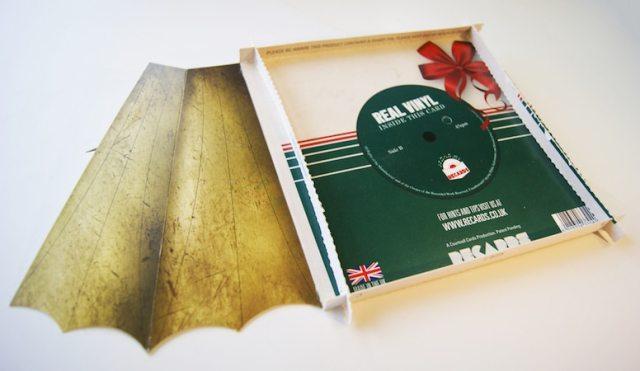 Geschenkideen für Plattensammler: Eine Karte aus Vinyl