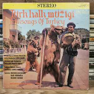 TÜRK HALK MÜZİGİ - Folksongs Of Turkey- Vinyl, LP, Stereo