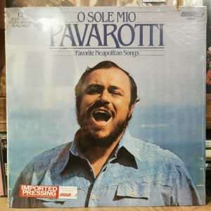LUCIANO PAVAROTTI - O SOLE MIO (FAVOURITE NEAPOLITAN SONGS) - Vinyl, LP, Stereo - PLAK