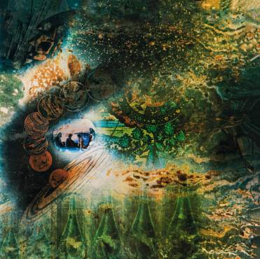 Album artwork, A Saucerful of Secrets, 1968. Design and photographs by Storm Thorgerson / Aubrey Powell at Hipgnosis