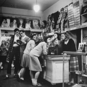 Teenagers at a record store, 1944