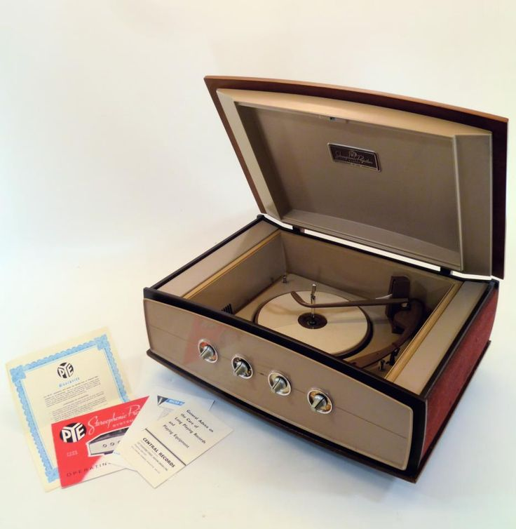 Pye Stereophonic portable record player, 1960s