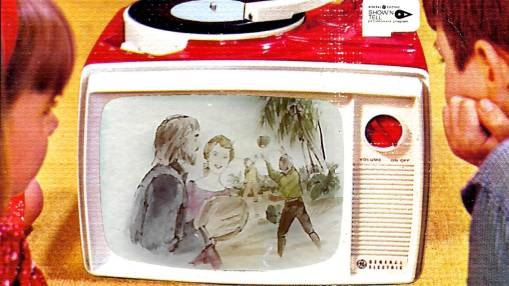 General Electric Show N Tell Phono Viewer and combination record player model A660B