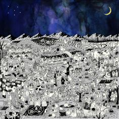 Artist: Father John Misty. Title: Pure Comedy Label: Bella Union Design: Art Direction Sasha Barr Illustrations by Ed Steed