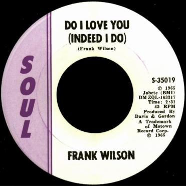 Frank Wilson, 'Do I Love You (Indeed I Do)' 45 rpm in plain sleeve — $37,000