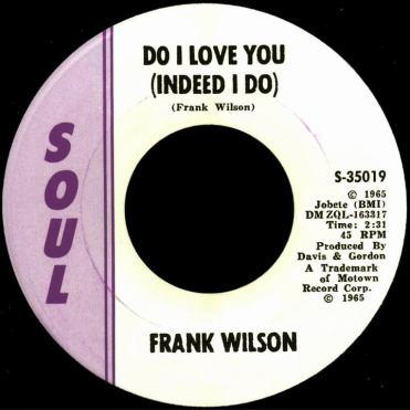 Frank Wilson, 'Do I Love You (Indeed I Do)' 45 rpm in plain sleeve — $37,000