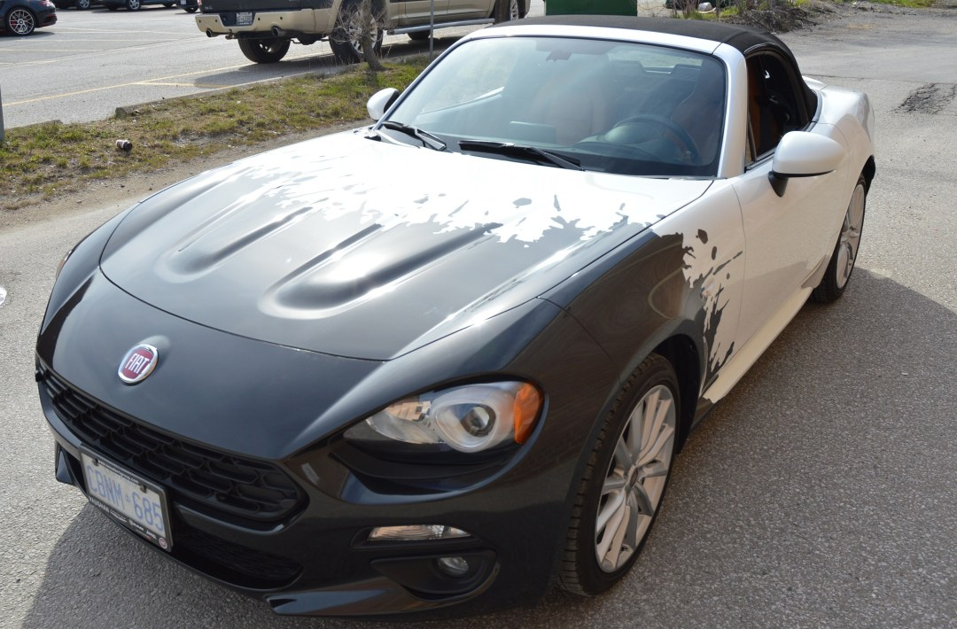 Car Wrap Toronto - Fiat Car Wrap - Fiat Spider 124 Partial Wrap After~ Vinyl Wrap Toronto