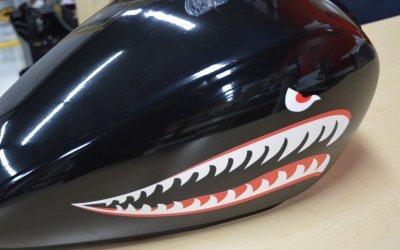 Motorcycle tank wrap