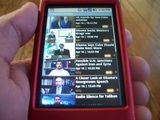 An example of the 1cast application on the G1 phone.
