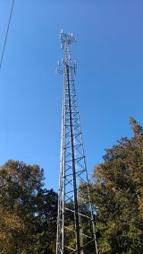 A photo of a typical cell tower.