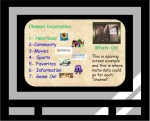 This is an example of what a possible TV user interface might look like as envisioned in the Viodi authored, June 2003, Streaming TV Whitepaper.
