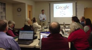 Kurt Gruendling teaching how to use Google Apps to rural customers