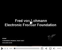 Click here to hear Fred von Lohmann of the Electronic Frontier Foundation