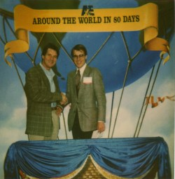 Ken with K-K-Ken (aka Michael Palin) at the 1989 or 1990 Western Cable Show in Anaheim