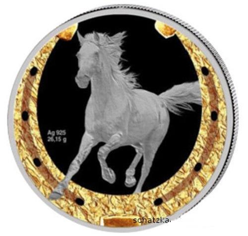 1oz Niue Island Orlovsky Trotter 1$ 2014 silver