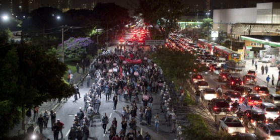 Protest against the 2014 World Cup Brazil in Sao Paulo