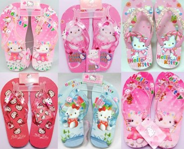 Promotion-wholesale-2012-girls-glitter-HELLO-KITTY-beach-shoes-Summer-cartoon-slippers-kids-fashion-EVA-flip