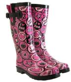 hello-kitty-boots-pink-and-black-circles