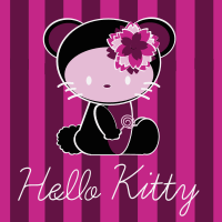 Dark Hello Kitty Seamless Pattern Set