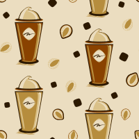 I Love Coffee Seamless Pattern Set