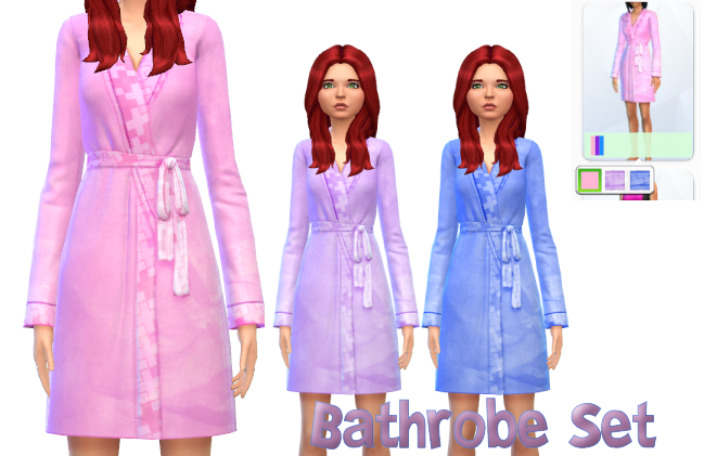 Pastel Bathrobe Set