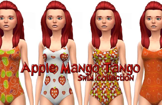 Apple Mango Tango Swim Collection 8 patterns
