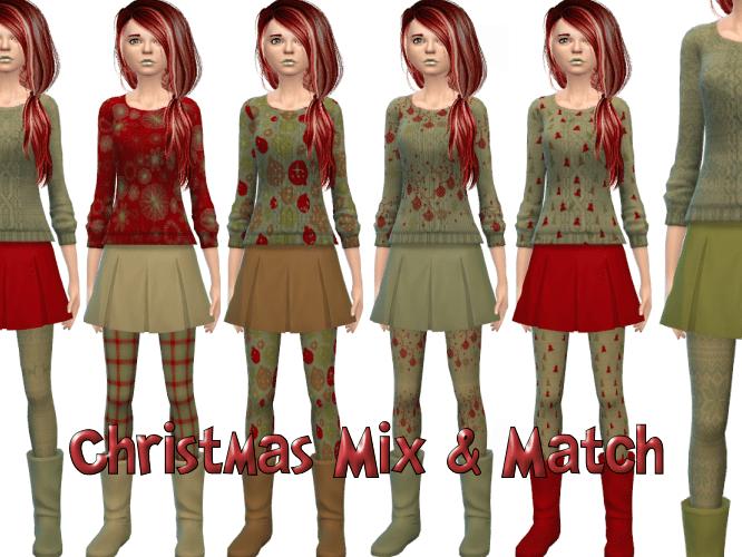 Christmas Mix & Match 7 patterns – Sweaters, Skirts, Boots, Socks