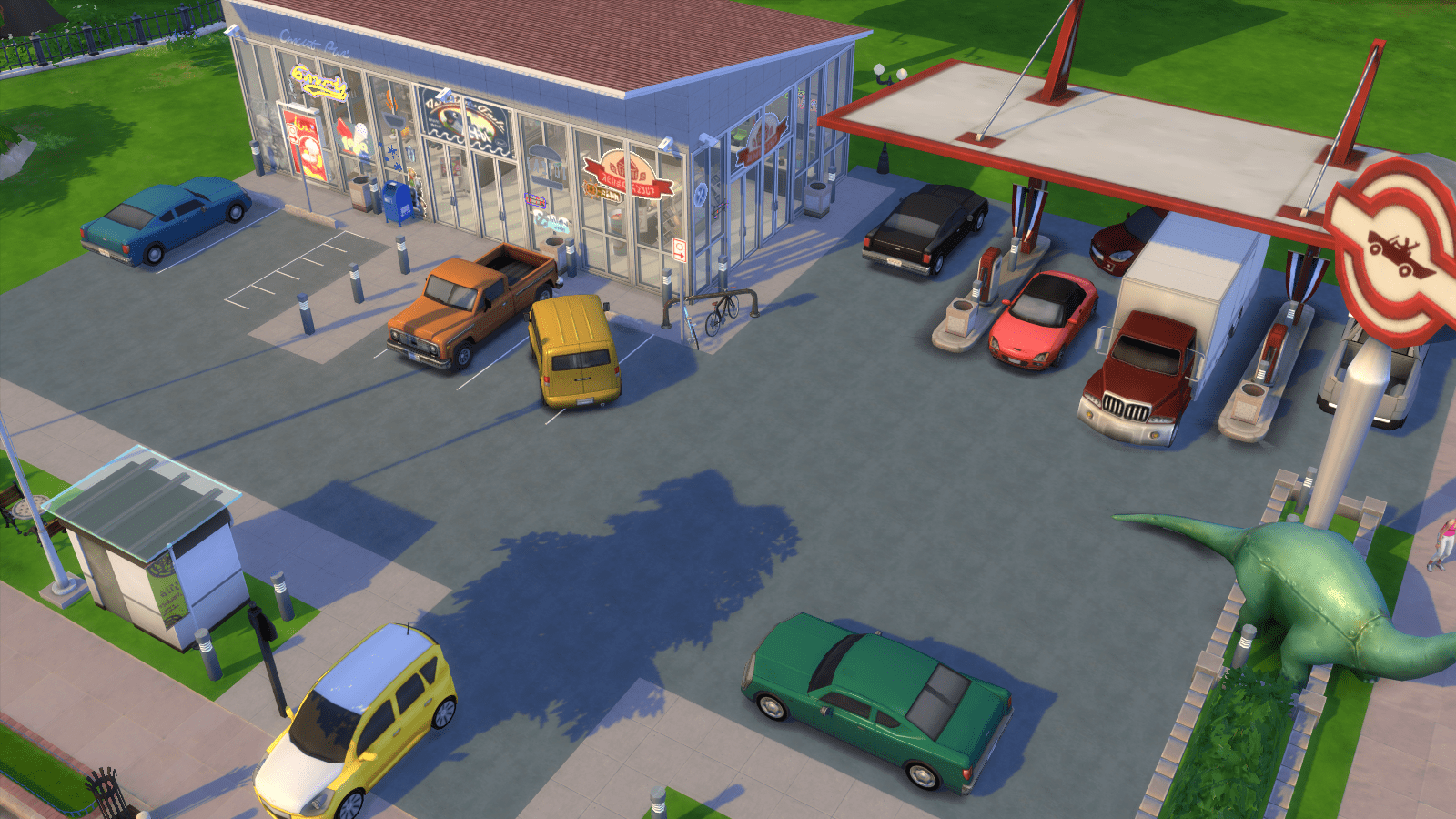 Simclair Gas Station for Sims 4