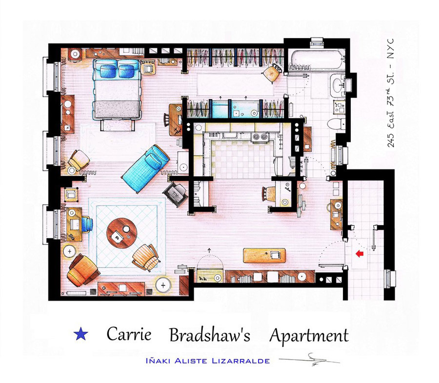 Carry Bradshaw Apartment/House for sims 4
