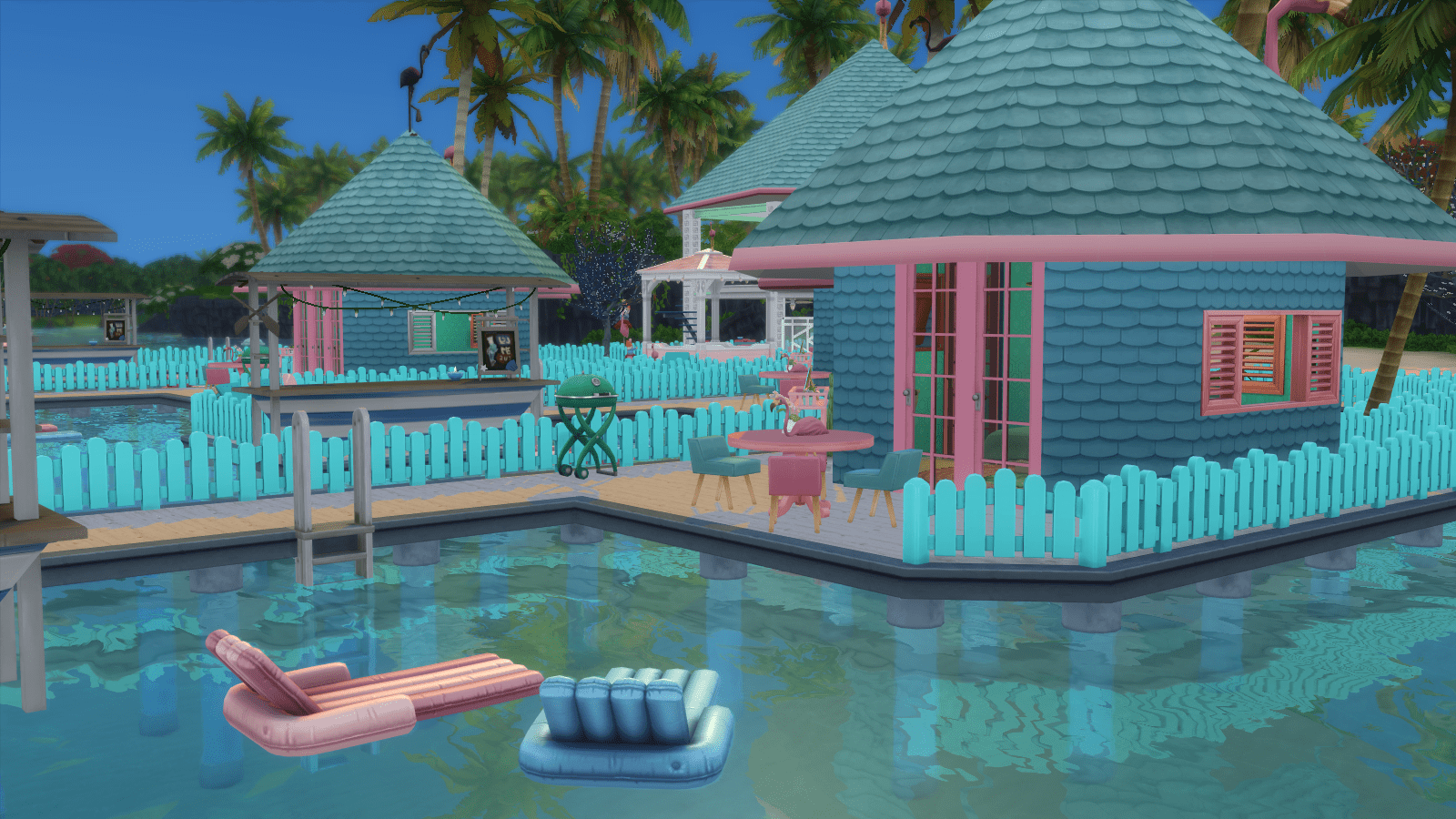 Flamingo Shores Resort for Sims 4