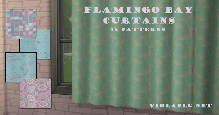 Flamingo Bay Curtain