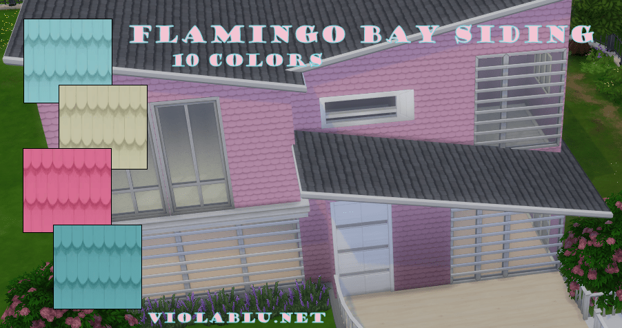 Flamingo Bay Siding for Sims 4