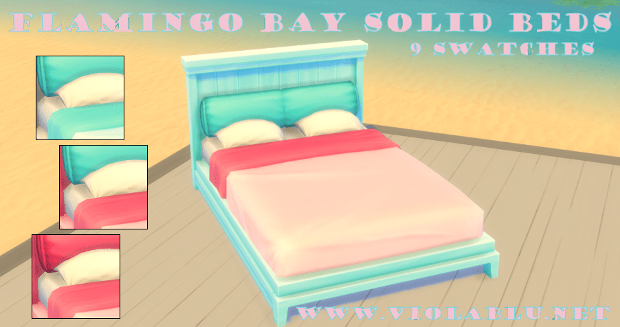 Flamingo Bay Beds for Sims 4