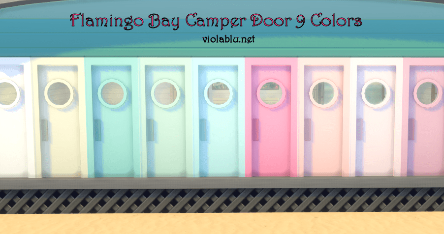 Flamingo Bay Camper Door for Sims 4