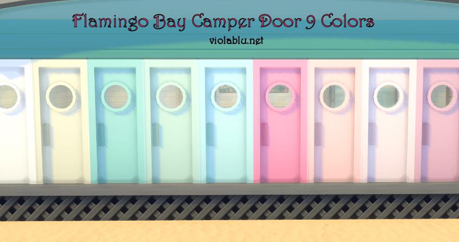 Flamingo Bay Camper Door for Sims 4