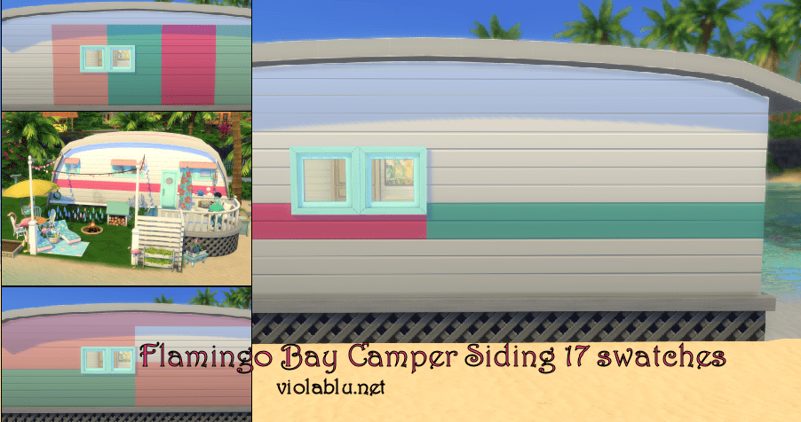 Flamingo Bay Camper Siding and Roof