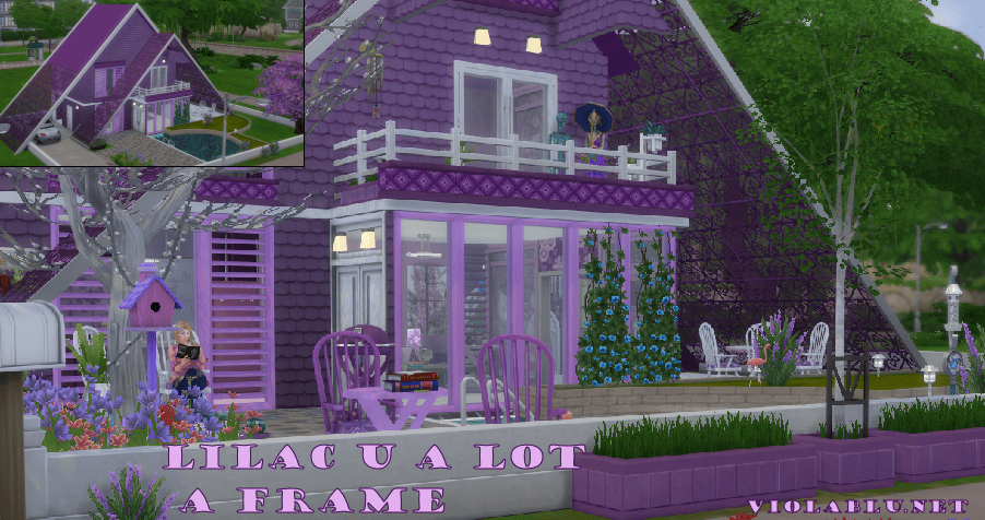 Lilac U A Lot A Frame House for Sims 4