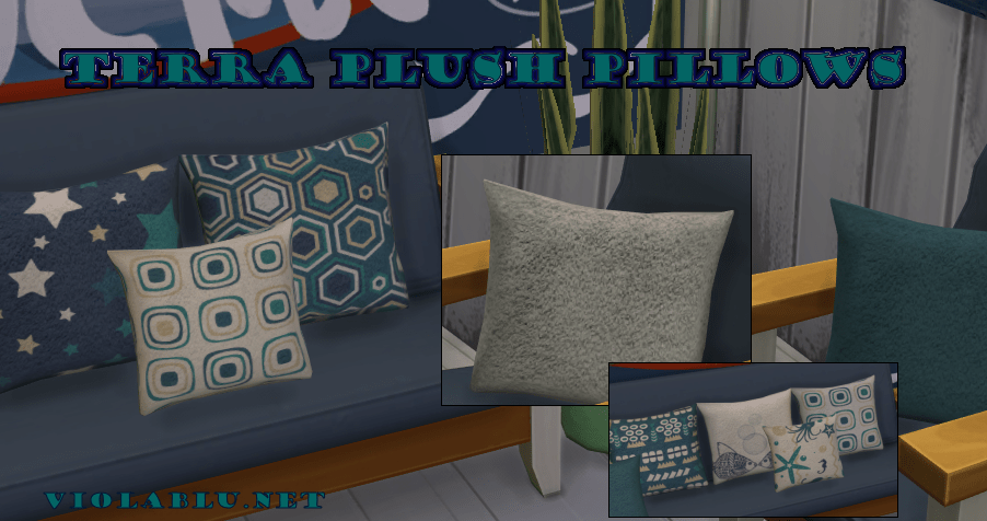 Terra Plush Pillow Set for Sims 4