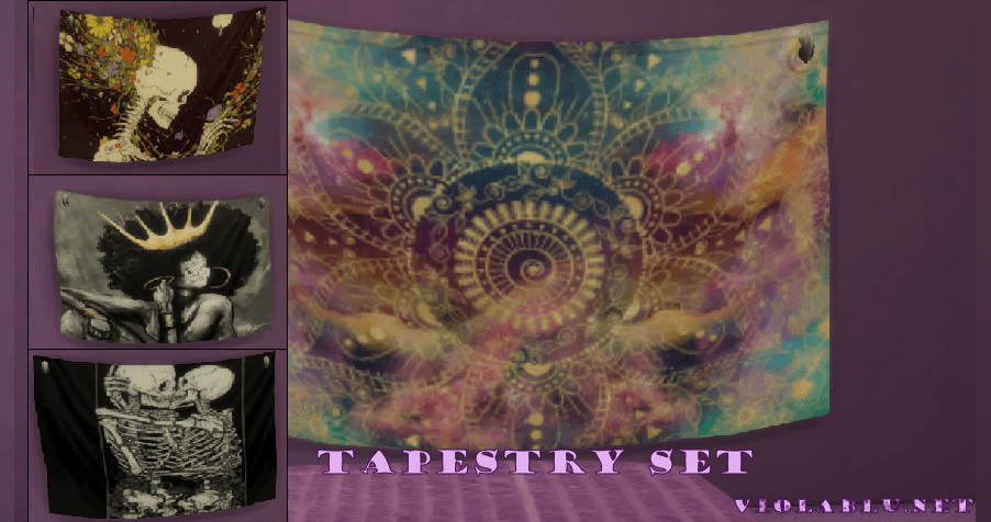 Tapestry Set for Sims 4