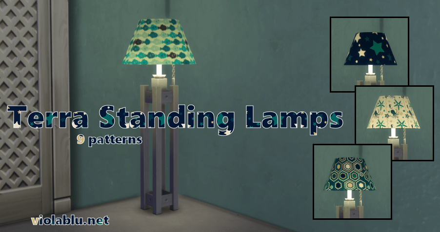 Terra Standing Lamps for Sims 4